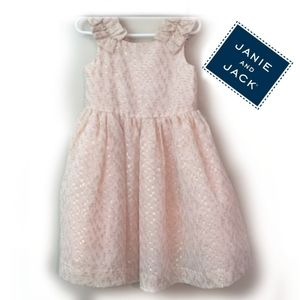 Janie and jack blush pink and gold dress